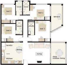 bedroom house floor plan   story    Build a home    Pinterest     bedroom house floor plan   story
