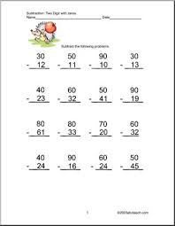 Math Subtraction Without Regrouping Worksheets - SheetsMath Worksheet Double Digit Subtraction With No Regrouping Worksheets