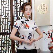 <b>Summer</b> Women's Shirt Tops Vintage Chinese style Lady Blouse ...