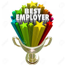 best employer words in a gold trophy colorful starts to best employer words in a gold trophy colorful starts to illustrate the top rated workplace
