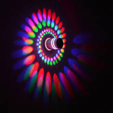<b>Led Wall</b> Light <b>Wall</b> Lamp Spiral Effect Lights With Controller 110V ...