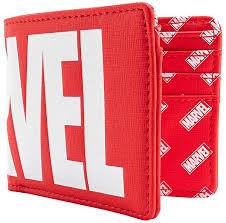 Кошелек Loungefly: <b>Marvel</b>: <b>Logo</b> Red Bi-Fold Wallet купить в ...