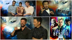 star trek beyond exclusive interviews karl urban chris pine star trek beyond film interviews