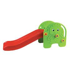 Детская <b>горка Edu Play Малыш</b> зелёный/красный/жёлтый 94 ...