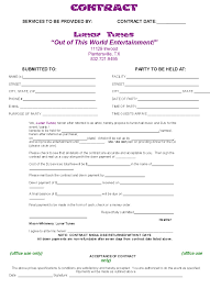 dj contract front event planning contract templates