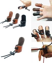 [Visit to Buy] <b>1pc Archery Finger Tab</b> Leather Finger Guard Thumb ...