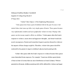 video game violence essay  compucenter cothe problem of violence in video games gcse english marked by document image preview