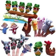 <b>5Pcs</b> Frog Hen Mouse <b>Animals Finger Puppets</b> Nursery Telling Fairy ...