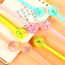 <b>Cute</b> Colorful Donut <b>Gel Pen</b> for Stationery (1pc) | <b>Cute</b> school ...
