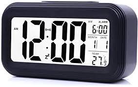 JJCALL Alarm Clock <b>LED Display Digital</b> Alarm Clock <b>Snooze</b> Night ...
