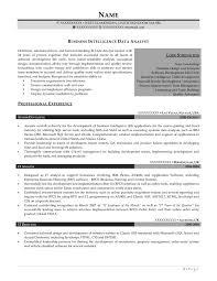 professional resume samples   resume primeafter  business intelligence data analyst resume