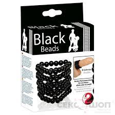 Открытая <b>насадка на пенис из</b> бусинок Black Beads (арт ...