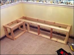 build kitchen corner bench
