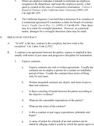 wrongful termination outline jody lewitter latika malkani pdf the california supreme court held that a demotion b in violation of a contractual agreement b