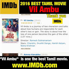 harish kalyan fc on vilambu is one of the best movie harish kalyan fc on vilambu is one of the best movie of 2016 approved by imdb kudos to the whole vil ambu team actor harish link