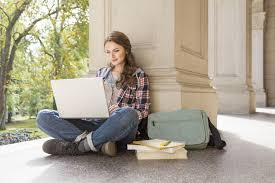 cover letter examples for students and recent graduates college student studying laptop and earbuds