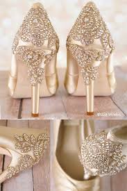 <b>Make</b> your wedding dress jealous with these gold wedding shoes ...