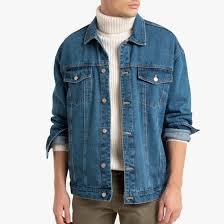 Куртка покроя оверсайз из <b>джинсовой</b> ткани, свободный покрой ...