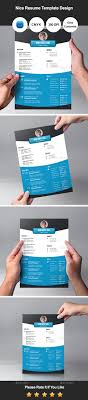 nice resume template design by graphicsdesignator graphicriver nice resume template design resumes stationery