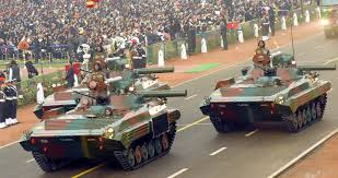 military hardware displayed during s republic day  bmp 2 infantry combat vehicle sarath n army