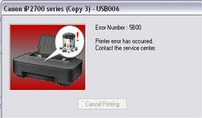 Cara Mengatasi Printer Canon IP2770 Error 5B00