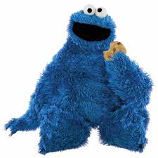 x plush wall:  in x  in sesame street cookie monster peel and stick giant wall