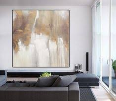 <b>Large Acrylic</b> Painting <b>White Abstract</b> Painting Gold Painting Texture ...