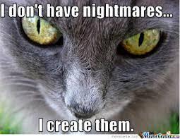 Evil Cat by nathanail - Meme Center via Relatably.com