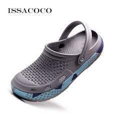 <b>ISSACOCO Men'S Slippers</b> Jelly Shoes Hole Shoes Hole ...