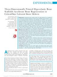 (PDF) Three-Dimensionally <b>Printed</b> Hyperelastic Bone Scaffolds ...