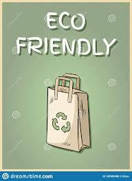 Плакат <b>бумажного мешка Eco</b> дружелюбный Мотивационная ...