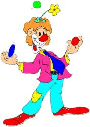 Znalezione obrazy dla zapytania klaun gif