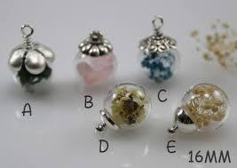 20pcs 16mm glass ball necklace pendant3 color aviailableglass bottle pendant blown glass bottle pendant