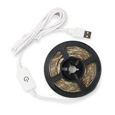 5M <b>DC5V USB</b> Waterproof 2835 LED Strip Light with Touch Dimmer ...