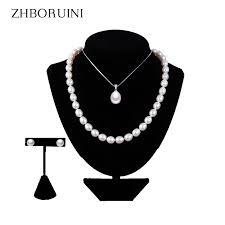 <b>ZHBORUINI 2019</b> Pearl Jewelry Sets Water Drop <b>Natural</b> ...