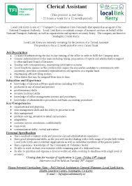 media local link kerry llk clerical assistant 16 job description