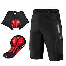 <b>WOSAWE Men's</b> Cycling Padded Shorts Cycling Shorts Cycling ...