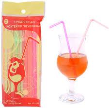 """<b>Трубочки для коктейля Мультидом</b> """"Вечеринка"""", длина 25 см, 50 шт"""