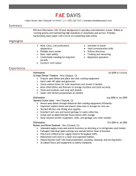 media entertainment resume examples media entertainment dishwasher resume example