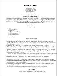 professional construction site supervisor resume templates to    resume templates  construction site supervisor resume