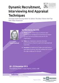certificate in dynamic recruitment interviewing and appraisal brochure