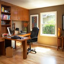home office and residential work spaces example of a classic home office design in san francisco best flooring for home office