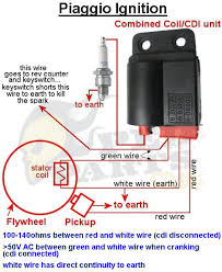 piaggio no spark cdi testing blog pedparts uk that the green wire also goes off to the ignition switch and the rev counter to see if there is a problem here test the resistance between the green