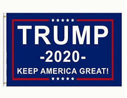 Donald Trump 2020 Flag WHITE ORIGINAL <b>FREE SHIPPING 3x5</b> ...