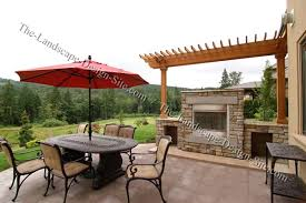 outdoor fireplace paver patio: stone and rock outdoor fireplace ideas