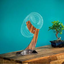 3D Optical Illusion <b>Wooden</b> Table Lamp with <b>Acrylic</b> Light Board ...