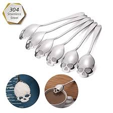 Buy <b>Skull Sugar Spoon</b> : FOXAS 304 <b>Stainless</b> Steel <b>Skull Sugar</b> ...