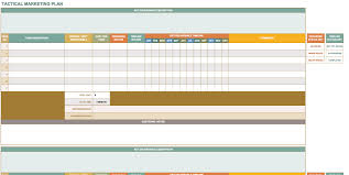 marketing plan templates for excel smartsheet tactical marketing plan template excel