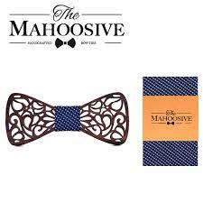 Mahoosive Handerchief <b>Wood</b> Wedding Bowtie Gravata Ties For ...