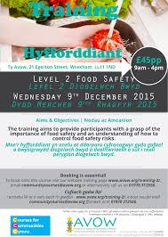 training avow association of voluntary organisations in wrexham level 2 food safety 09 12 15